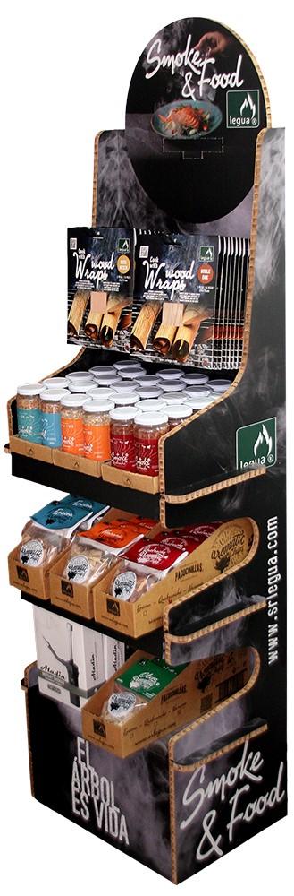 Expositor de productos smoke & food