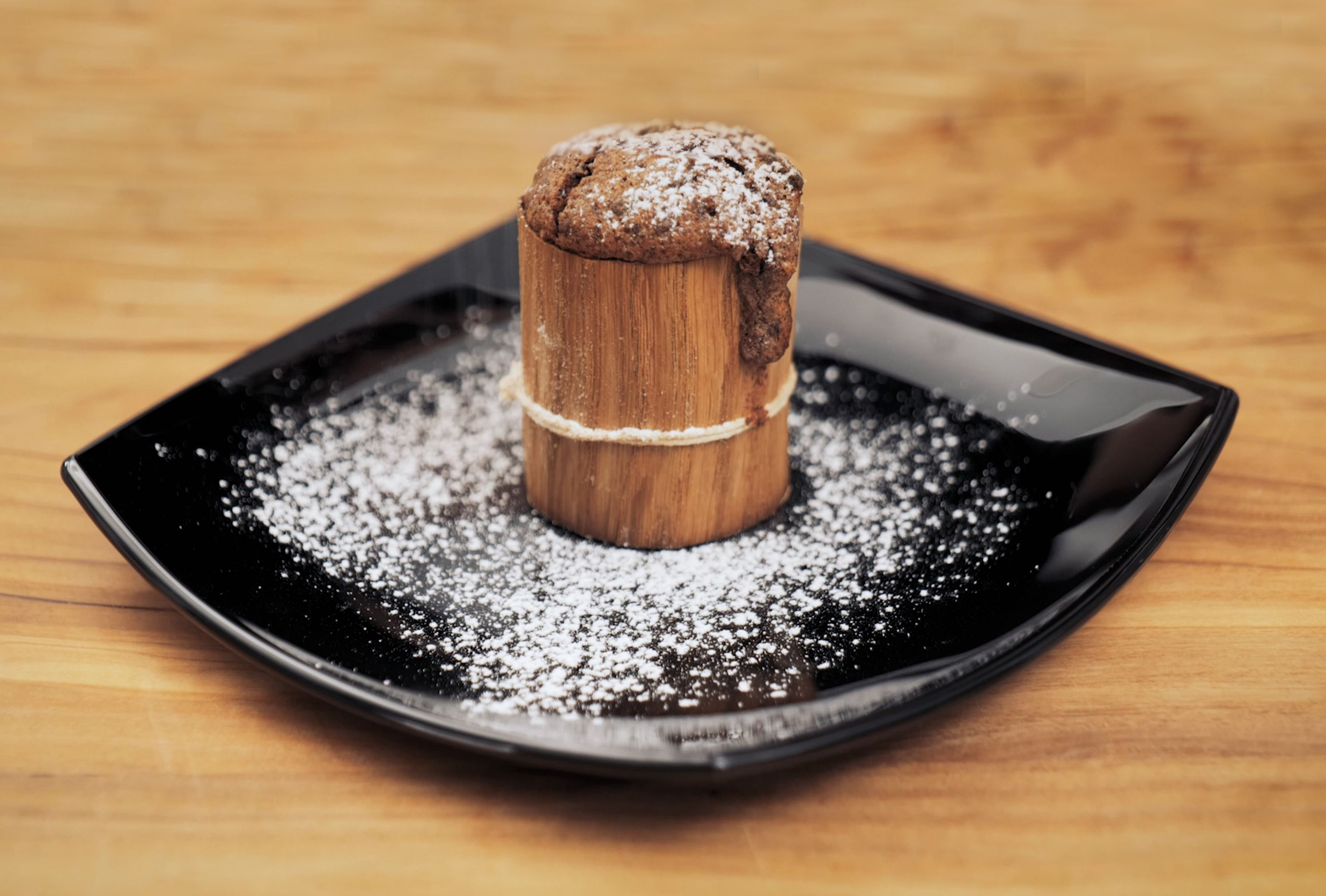 Brownie hecho con Wood Wraps