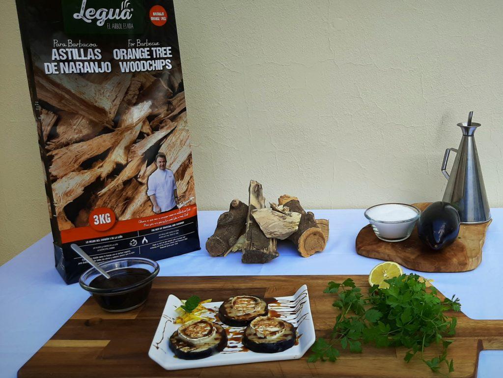 Cocina con astillas de naranjo de Legua