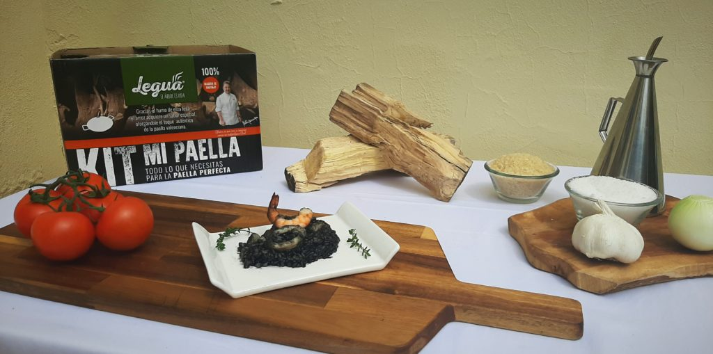 Cocinando con kit mi paella de Legua