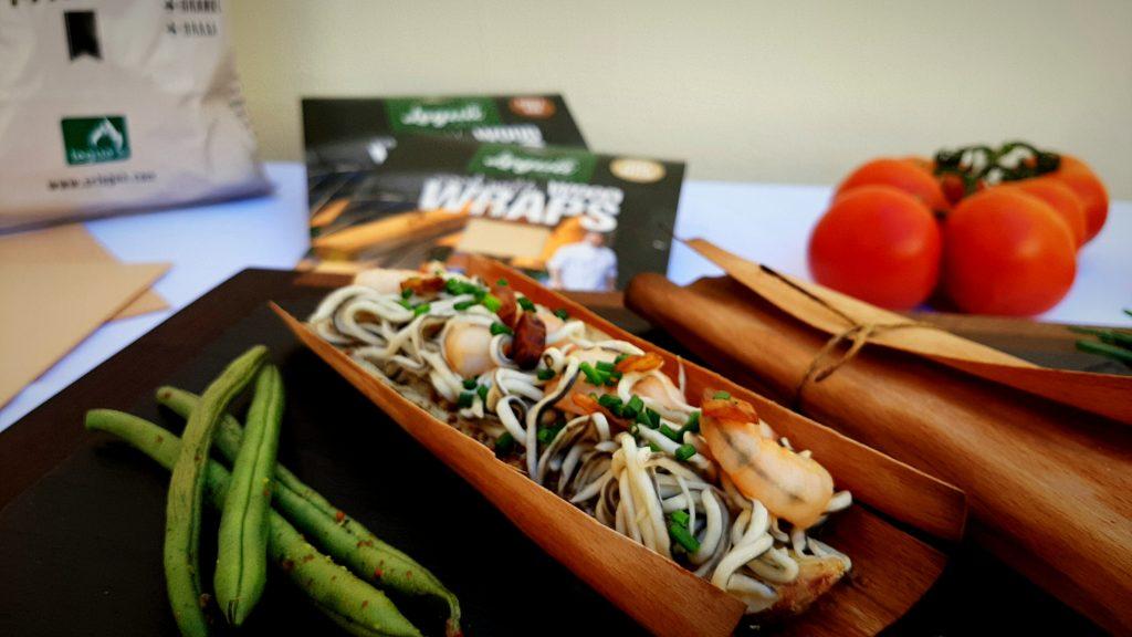 Cocina con Wood Wraps de Legua