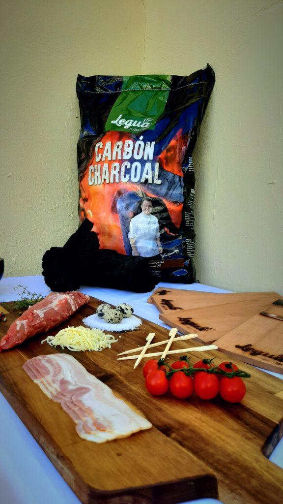 Cocina con carbón de Legua