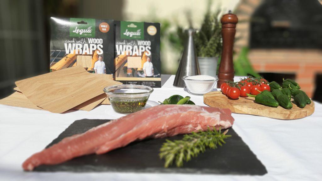 cocinando con Wood Wraps Haya