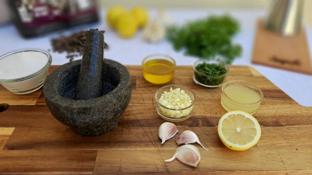 Cocina con pellet de sarmiento y carbón de Legua.