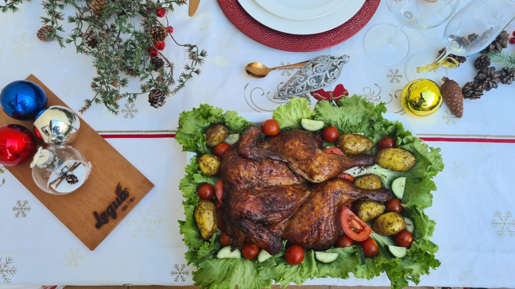 Cocina con carbón, chunks de  manzano y aromatic chips de Legua.