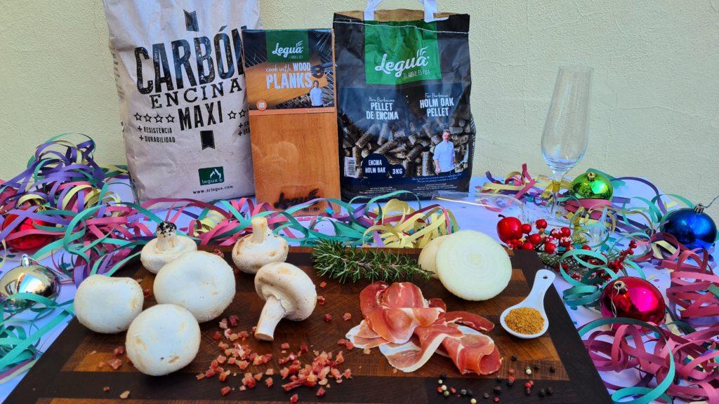 Cocina con carbón, wood planks y pellet de encina de Legua.