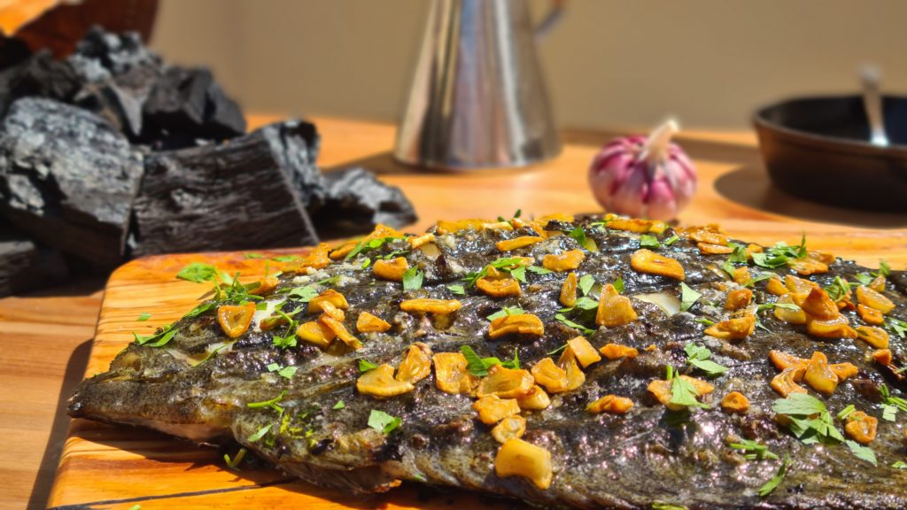 Cocina con carbón de encina de Legua